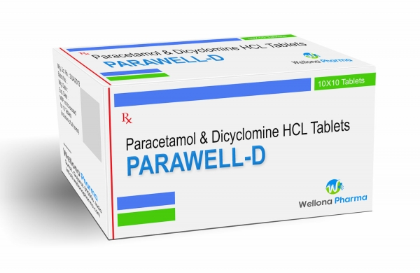 Paracetamol & Dicyclomine HCL Tablets